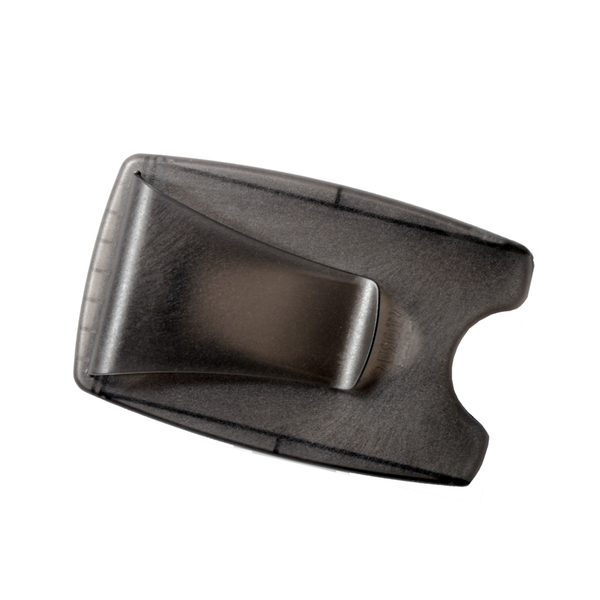 Smart Money Clip® - Lite Charcoal - clip side empty