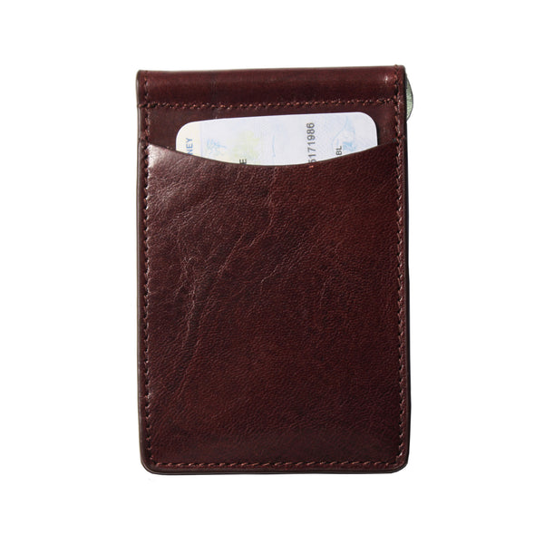 Storus Razor Wallet™ - Dark Brown back side with ID inside