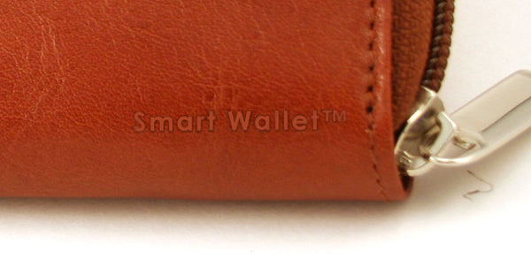 Storus Smart Accordion Wallet close up of zipper