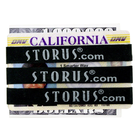 Storus Rubberband Wallet - Black - 3 pieces around a drivers license