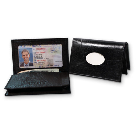 Storus Smart Card Case Leather black color side by side view of it opened and closed