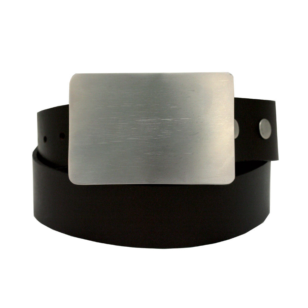 Storus Smart Belt Buckle™ - Brushed Stainless Steel on belt