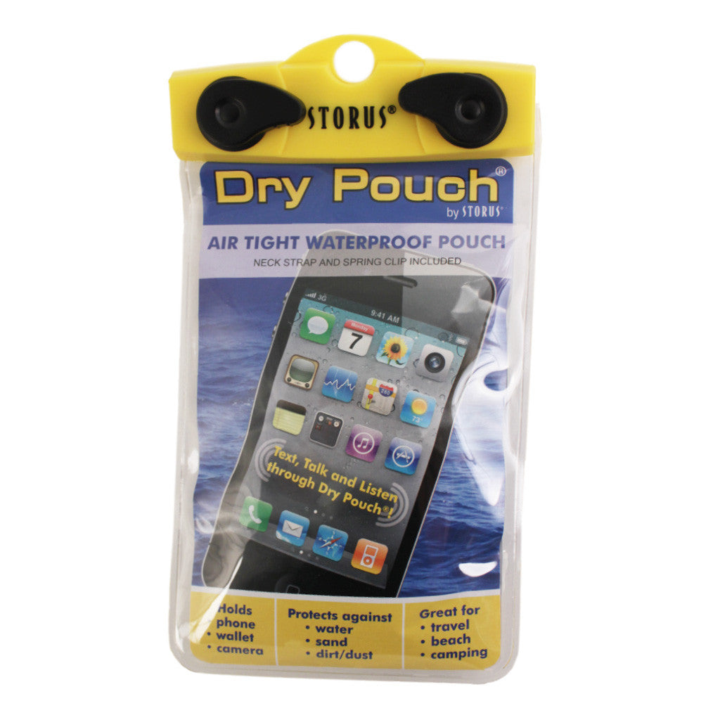 Storus® Dry Pouch® - 4x6 Cell Phone Size - clear - #ScottKaminski #Storus #Man #MensAccessories #storagesolutions #organization #iphoneholder #travel #camping #boating #beach #kayaking #watersports #waterproofpouch