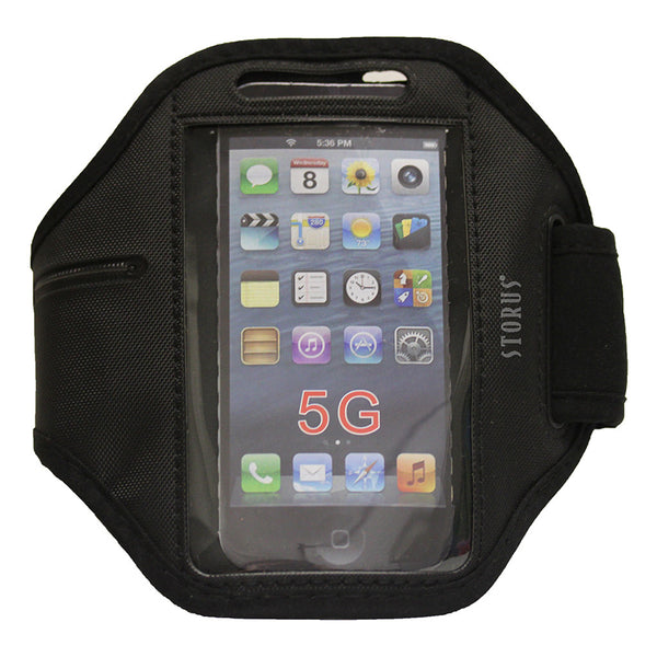 Storus Smart Armband - Black with phone inside