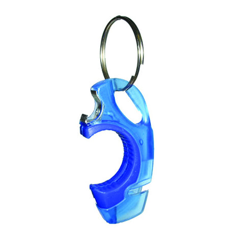 Storus Cheekey key ring bottle opener blue