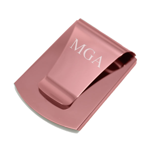 Smart Money Clip pink finish - engraved with initials