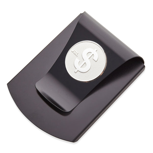 Storus® Smart Money Clip® Gunmetal with silver $ Sign medallion - by #Storus #ScottKaminski #MoneyClip #SlimClip #bestmoneyclip #groomsmangifts #Swag #Love #trump #President