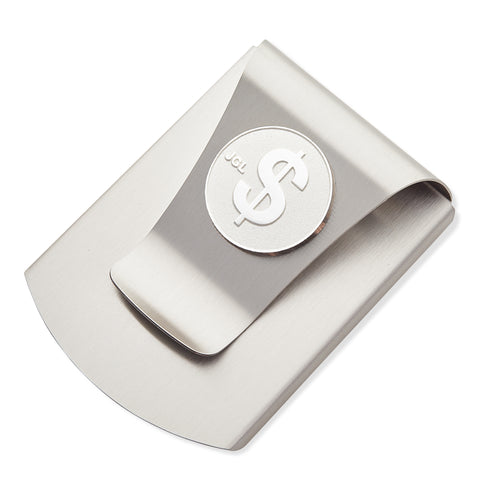 Storus® Smart Money Clip® Titanium with silver $ Sign medallion - #Storus #ScottKaminski #MoneyClip #SlimClip #bestmoneyclip #groomsmangifts #Swag #Love #trump #President