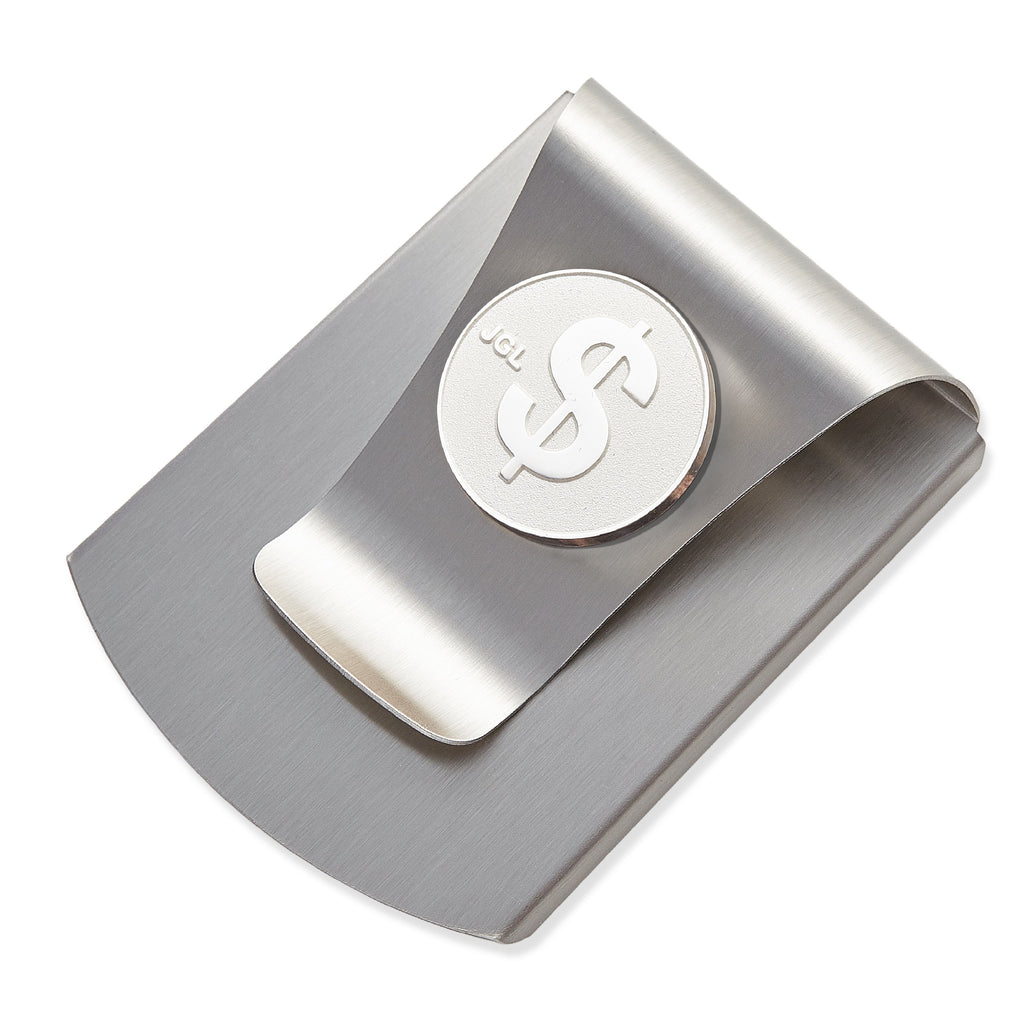 Storus® Smart Money Clip® - Brushed Stainless with silver $ Sign medallion - #Storus #ScottKaminski #MoneyClip #SlimClip #bestmoneyclip #groomsmangifts #Swag #Love #trump #President