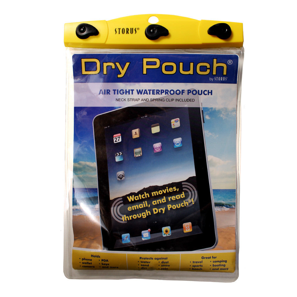 Storus® Dry Pouch® - 9x12x2 Tablet - #ScottKaminski #Storus #Man #MensAccessories #storagesolutions #organization #iphoneholder #travel #camping #boating #beach #kayaking #watersports #waterproofpouch