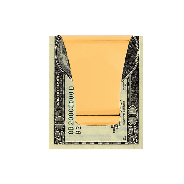 Smart Money Clip gold finish clip side woth money attached