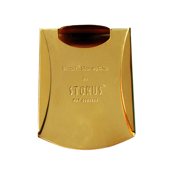 Storus® Smart Money Clip®President Trump, Keep America Great, Commemorative 2020 Election Edition - Polished Gold channel side - #ScottKaminski #Storus #MoneyClip #SlimClip #bestmoneyclip #groomsmangifts #Swag #Love #trump #President
