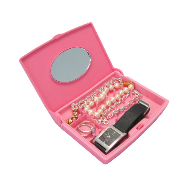 Storus Smart Jewelry Case® Mini - Pink - open and filled with jewelry