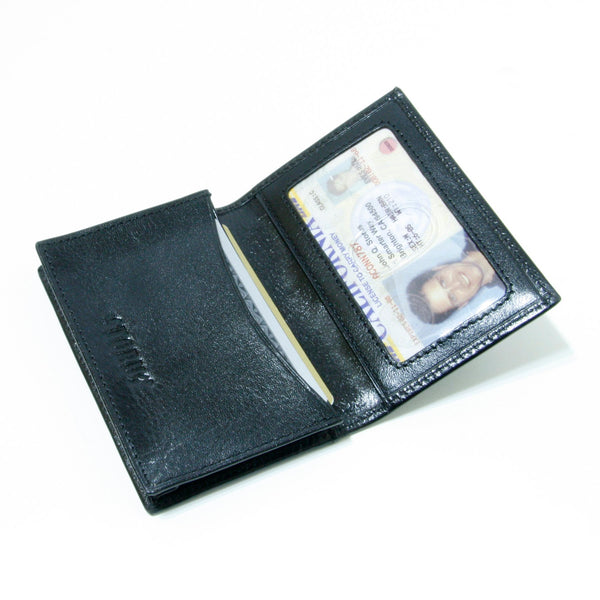 Storus® Smart Wallet™ Leather - black color - open and filled  - #ScottKaminski #Storus #Man #MensAccessories #storagesolutions #organization #Wallets #MoneyClips #storagesolutions #organization #travel #lovethis #life