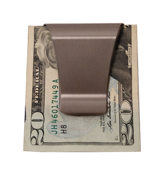 Smart Money Clip with money on clip side