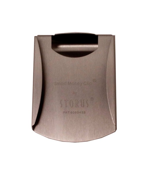 Storus® Smart Money Clip® - Brushed Stainless - channel side shown empty - #Storus #ScottKaminski #MoneyClip #SlimClip #bestmoneyclip #groomsmangifts #Swag #Love #trump #President