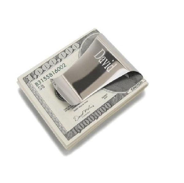 Storus® Smart Money Clip - polished Stainless - clip side shown - patented #ScottKaminski #Storus #man #moneyclip #wallet