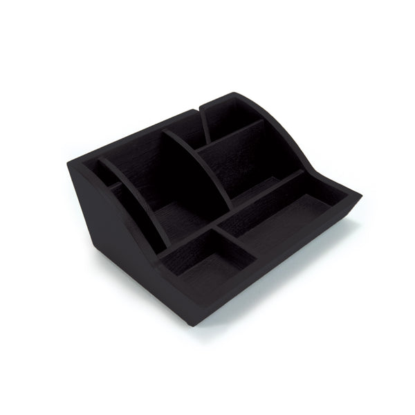 Smart Valet Tray® - Black - Storus - side - for men or women. for dresser, nightstand or desk, shown empty