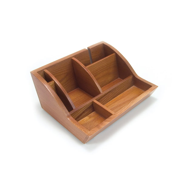 Smart Valet Tray® - Oak - Storus - empty - for men or women. for dresser, nightstand or desk.