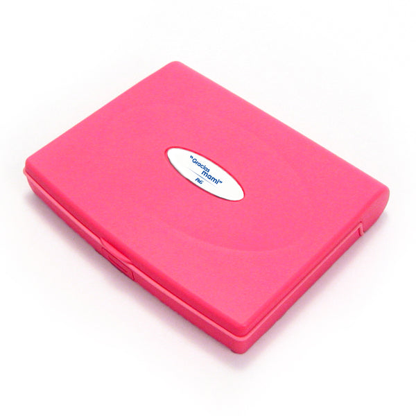 Storus Smart Jewelry Case® Mini - Pink - Storus - top view with engraving plate