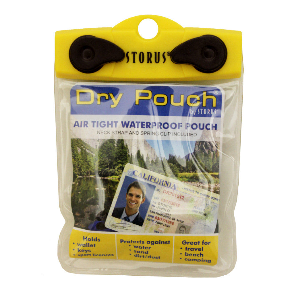 Storus Dry Pouch® - 4x4 Wallet size - clear - #ScottKaminski #Storus #Man #MensAccessories #storagesolutions #organization #iphoneholder #travel #camping #boating #beach #kayaking #watersports #waterproofpouch