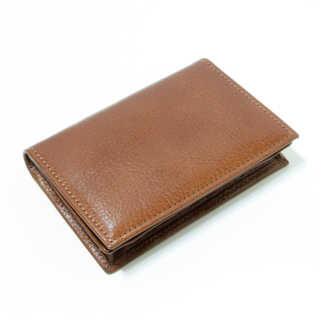 Storus® Smart Wallet™ Leather - cognac color - shown closed - #ScottKaminski #Storus #Man #MensAccessories #storagesolutions #organization #Wallets #MoneyClips #storagesolutions #organization #travel #lovethis #life