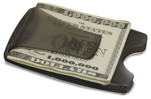 Smart Money Clip® - Lite Charcoal - Storus - clip side full of cash