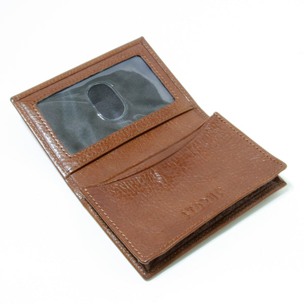 Storus® Smart Wallet™ Leather - cognac color - shown open and empty - #ScottKaminski #Storus #Man #MensAccessories #storagesolutions #organization #Wallets #MoneyClips #storagesolutions #organization #travel #lovethis #life