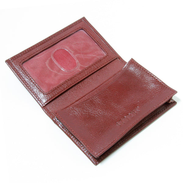 Storus® Smart Wallet™ Leather - red color - shown open and empty - #ScottKaminski #Storus #Man #MensAccessories #storagesolutions #organization #Wallets #MoneyClips #storagesolutions #organization #travel #lovethis #life