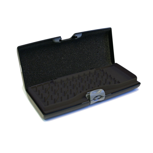 Smart Jewelry Case® - Black - Storus - peg side open view empty