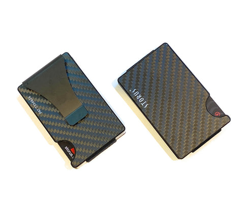 Storus Smart Wallet without screws front and back side shown side by side