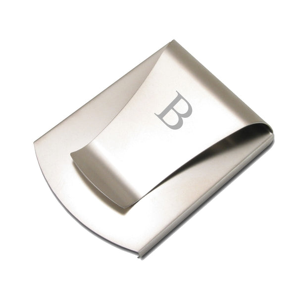 Smart Money Clip Titanium finish - engraved with one letter - invented by #ScottKaminski #Storus #smartmoneyclip #slimClip #swag #man #gift