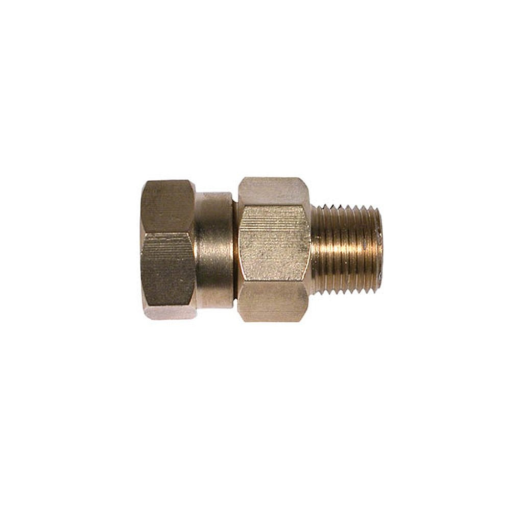 "In-Line 1/4"" NPT High Pressure Swivel Brass 3000psi"