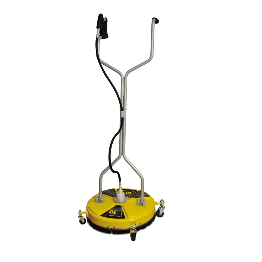 "BE 20"" Yellow Flat Surface Cleaner 4000psi - With Wheels"