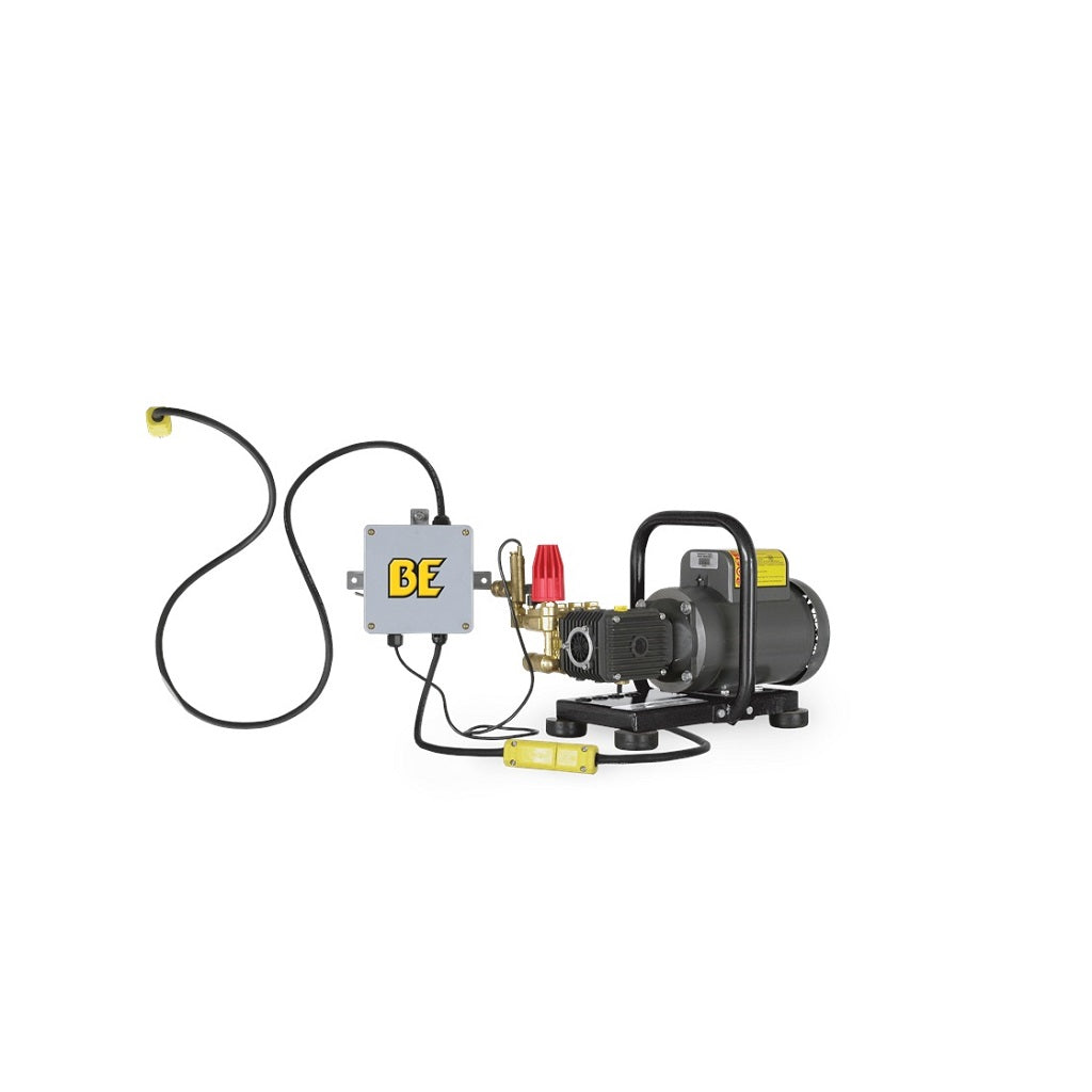 110Volt 1500psi 2.0gpm BE Industrial Hot Water Capable Electric Pressure Washer B152EPGHT