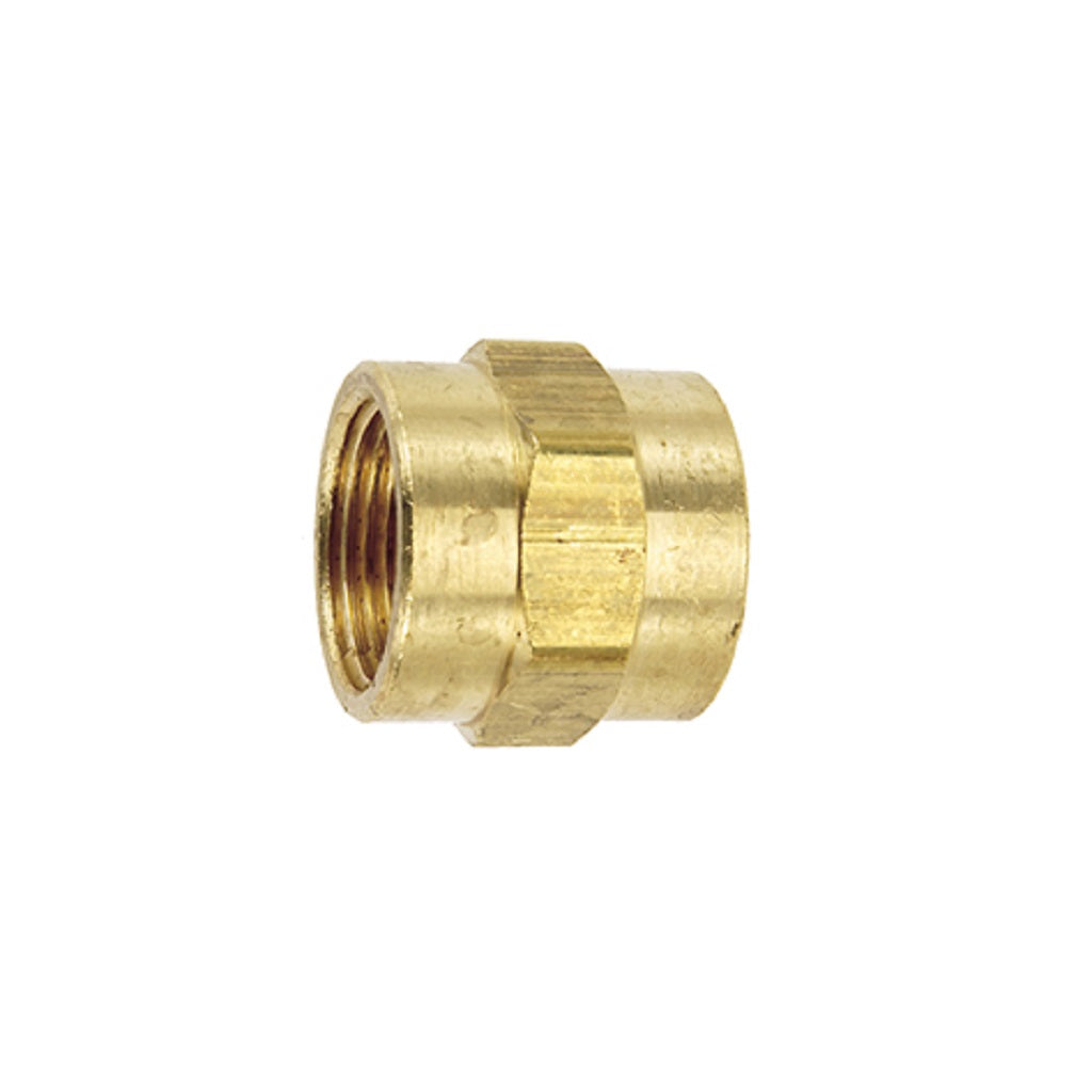 "Female Coupling 3/8"" FNPT Pipe Thread Brass"