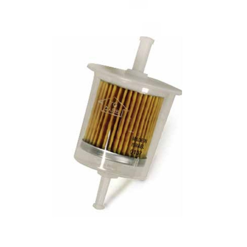 "All Purpose Clear Fuel Filter 1/4"" In/Out Plastic"