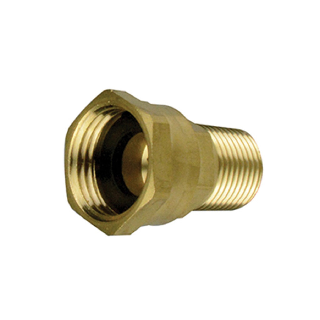 Female Garden Hose Swivel x Male NPT Pipe Thread
