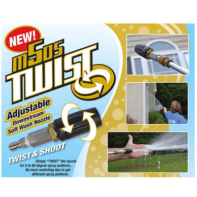 X-Jet M5DS Twist - Adjustable Downstream Softwash Nozzle