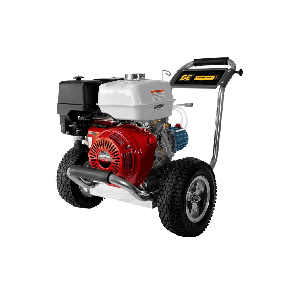 4000psi 4gpm Industrial Direct Drive Pressure Washer Honda GX390 & Cat Pump Stainless Frame