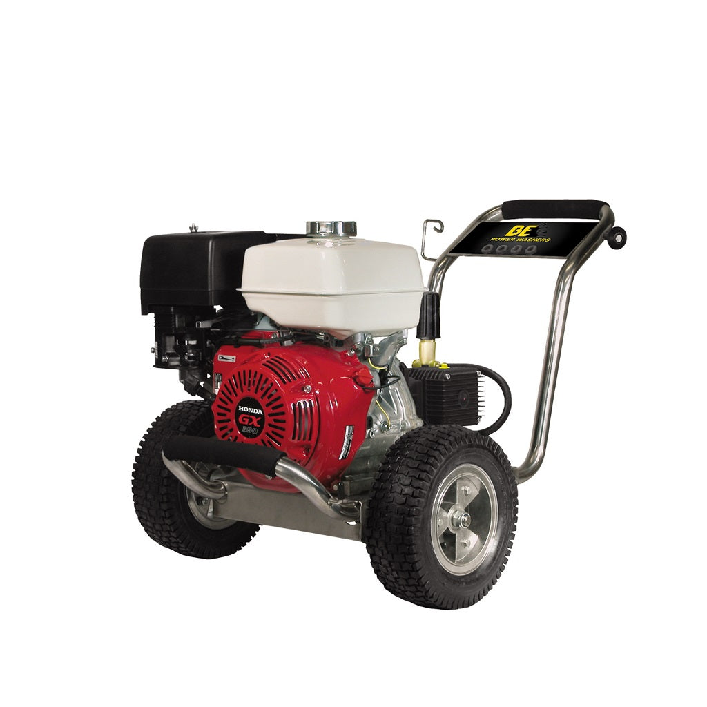 4000psi 4gpm Industrial Direct Drive Pressure Washer Honda GX390 & General Pump Stainless Frame