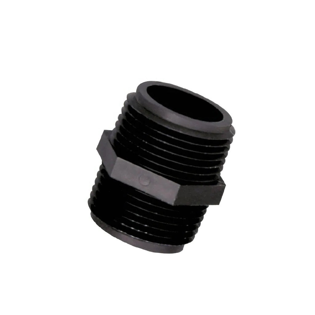 Plastic Hex Nipple - Poly Adapter