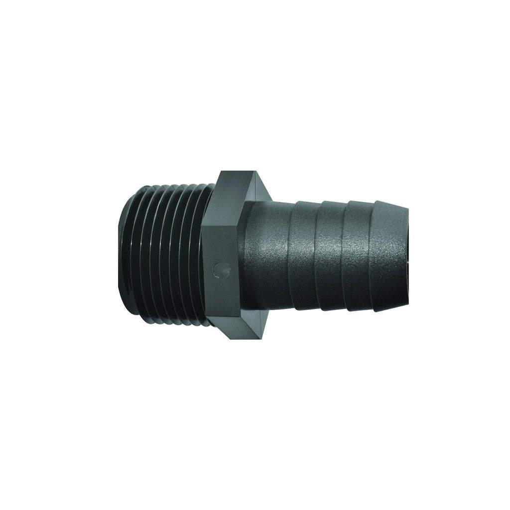 PVC Poly Plastic Male NPT Pipe Thread x Hose Barb Adapter