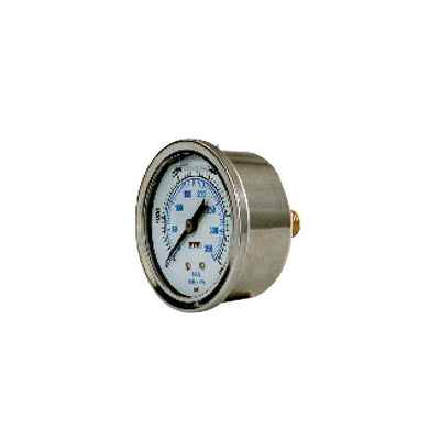 "Glycerin Filled Stainless Pressure Gauge 2.5"" Face"
