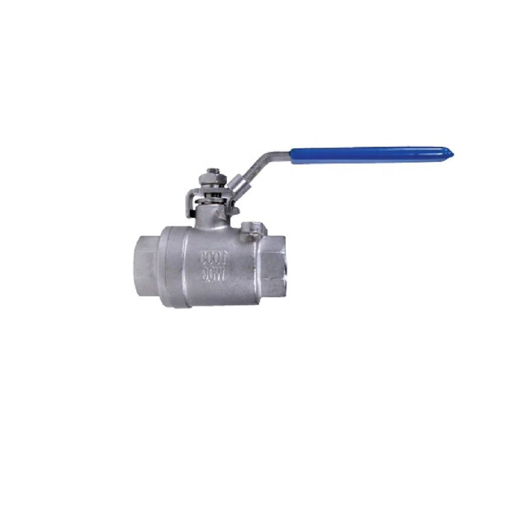 "Stainless Steel Ball Valve Female NPT Ports 1/4"" up to 3"" 1000psi"