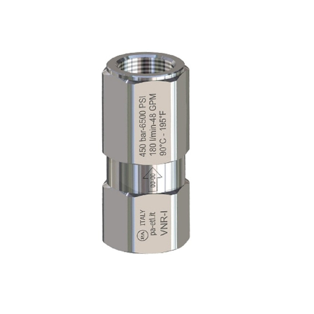 PA VNRI Stainless Steel Check Valve 5800psi