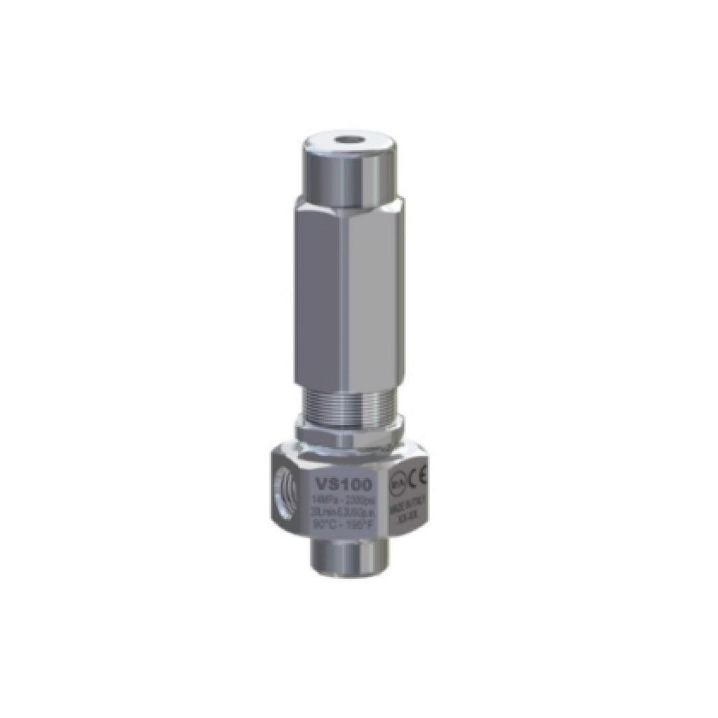 VS100 Safety Relief Valve Stainless Steel 2300psi