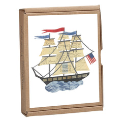 Tall Ship Notecard Box