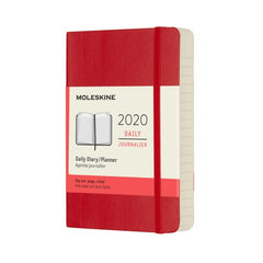 Moleskine 2020 Daily Pocket Diary Red Soft Cover