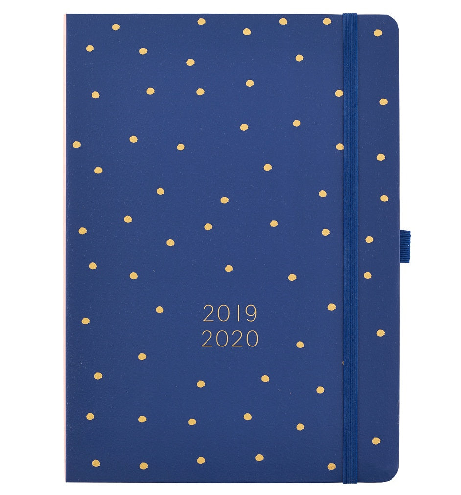Busy B Mid Year Day A Page Diary 2019/20 Navy